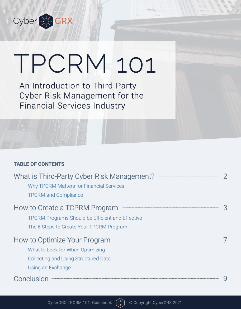 tpcrm 101 in financial services